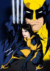 X-23/Wolverine by Dannith by edCOM02