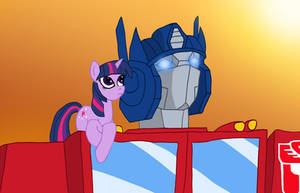 Optimus Prime and Twilight Sparkle by edCOM02