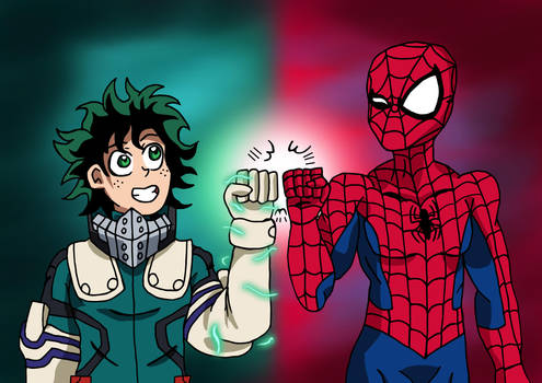 Marvel x MHA - Deku and Spidey by edCOM02