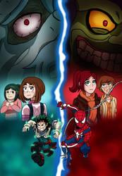 The Amazing Spider-Man and Deku by edCOM02
