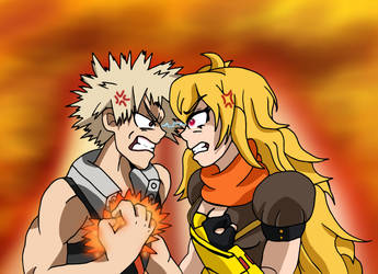 MHA x RWBY - Exploding Hot-Heads by edCOM02