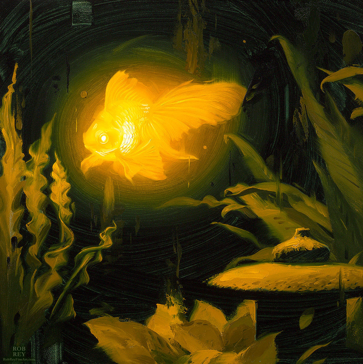 Bioluminescence, Goldfish by robrey