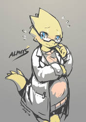 Alphys by TysonTan