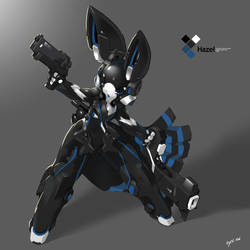 SYNC: Azure the Robot Rabbit by TysonTan