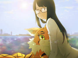 Meiko and Meicoomon by Detoreik