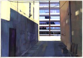 Alley having a break by Okmer