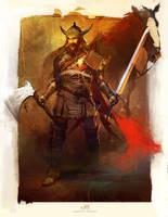 Warrior sketch by Okmer
