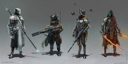 Scifi Dudes by Okmer