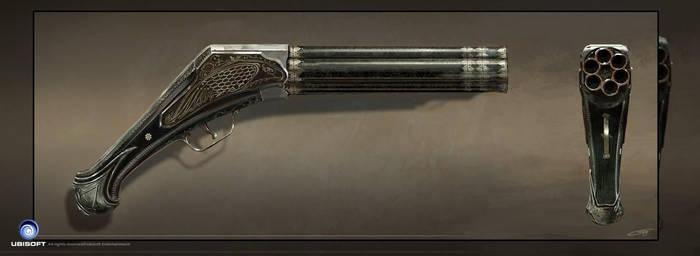 Assassin's Creed Unity Conceptart GUN Arno by Okmer