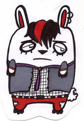 Emo Bunny by NicoSchmiko