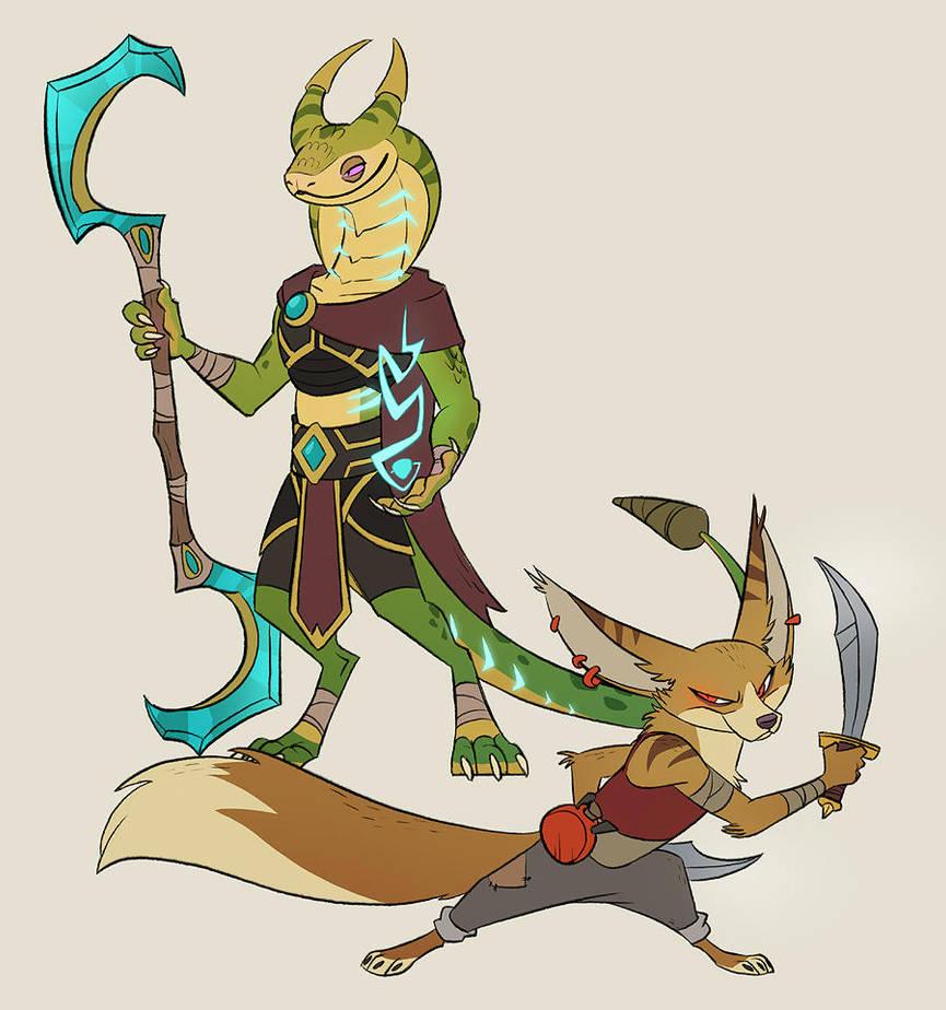 sethrak and vulpera by doingwell