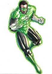 Green Lantern - Watercolors by BRAINandFAT