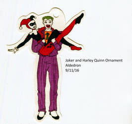 Joker and Harley Quinn Ornament by Aldedron