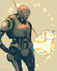 K-2SO and BB-8 by ainzs2