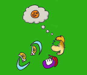 Rayman Laughting by BluefordTheWolf