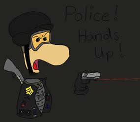 Rayman As A Cop by BluefordTheWolf