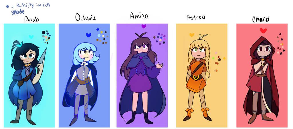 AtlantisTale : official characters by En-RainDst