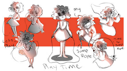 Baldis Basics: play time sketch batch by En-RainDst