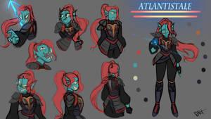 Atlantis: Undyne  Reference Sheet by En-RainDst