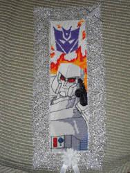 Cross Stitch Bookmark - Megatron by nkfloofiepoof