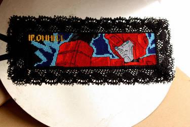 Cross Stitch Bookmark - Ironhide by nkfloofiepoof
