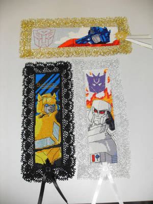 Cross Stitch Bookmarks - group shot by nkfloofiepoof