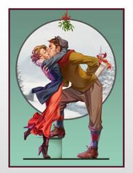 Holiday Kiss by ancalinar