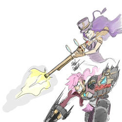 Vi And Cait Sketch by TheDoodleOnThePage