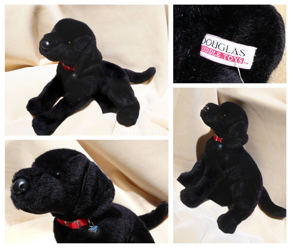 Douglas Large Floppy Dogs James Black Lab By The Toy Chest On