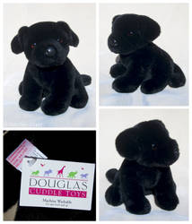 Douglas Cuddle Toys - Bud Black Lab Pup by The-Toy-Chest