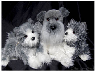 Douglas Cuddle Toy - Fritz, Percy, Emil Schnauzers by The-Toy-Chest