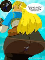 [Commission] Zelda buttcrushing by DonVirus
