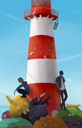 Ookay and Fox Stevenson - Lighthouse by KristinaToxicpanda