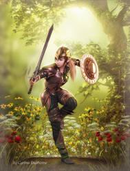 Elven Warrior by Radthorne