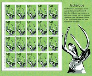 Jackalope Stamp Sheet by styrofoamdiablo