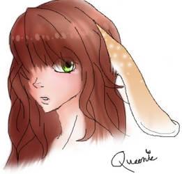BunnyGirl doodle by darkqueenarts