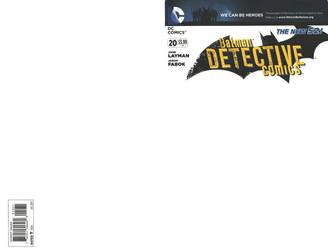 Blank Cover - Batman Detective Comics by RichardJPG
