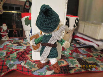 Link from Zelda, back view by Tuloa