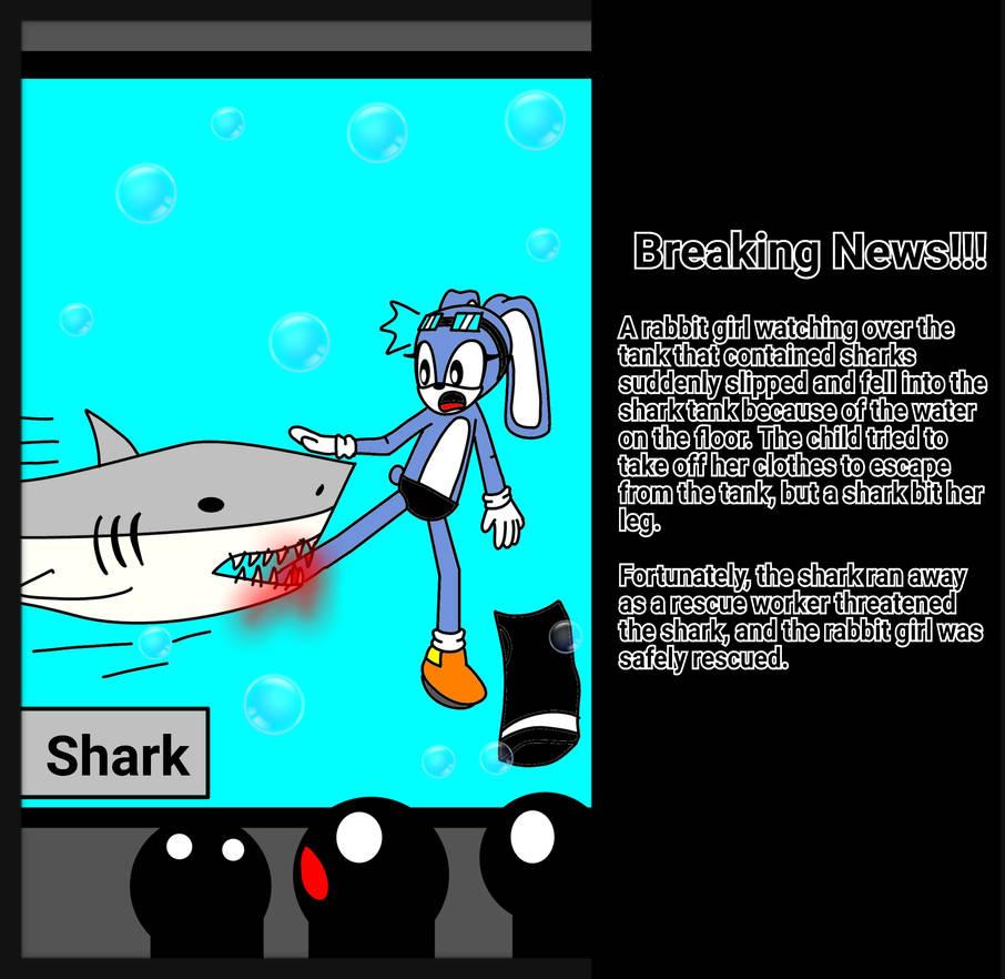 Shark Bite Accident [Dark Tails-X] by DarkTails-X