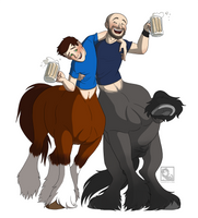 Drunk Duo - Commission by Linda065cliva
