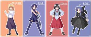 Heroines of 'Tsukihime' - 1 by orbg