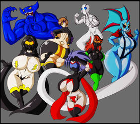 Campaigners: The Team of Voluptuous Superheroes by Nish13Guilmon