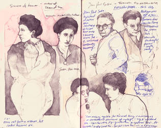 Simone de Beauvoir - Skethbook by PaperandDust