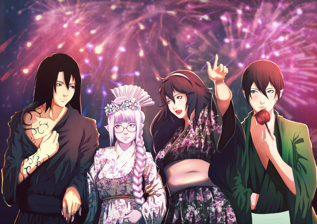[C] Firework Festivals . by Ezekuro