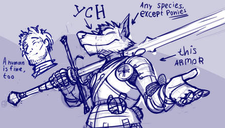 Full plate YCH (auction) by Glumych