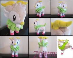 Shiny Skiddo plush toy by Maz-Zeldette