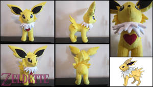 Jolteon Pokemon Plush by Maz-Zeldette