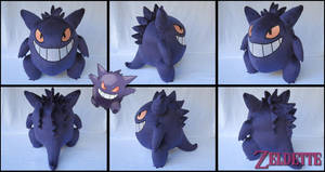 Gengar plush - Pokemon by Maz-Zeldette