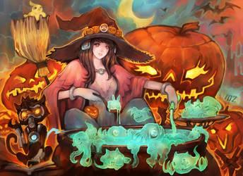 halloween D.Va by liuhao726