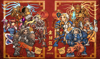 Chinese New Year-Door-god by liuhao726